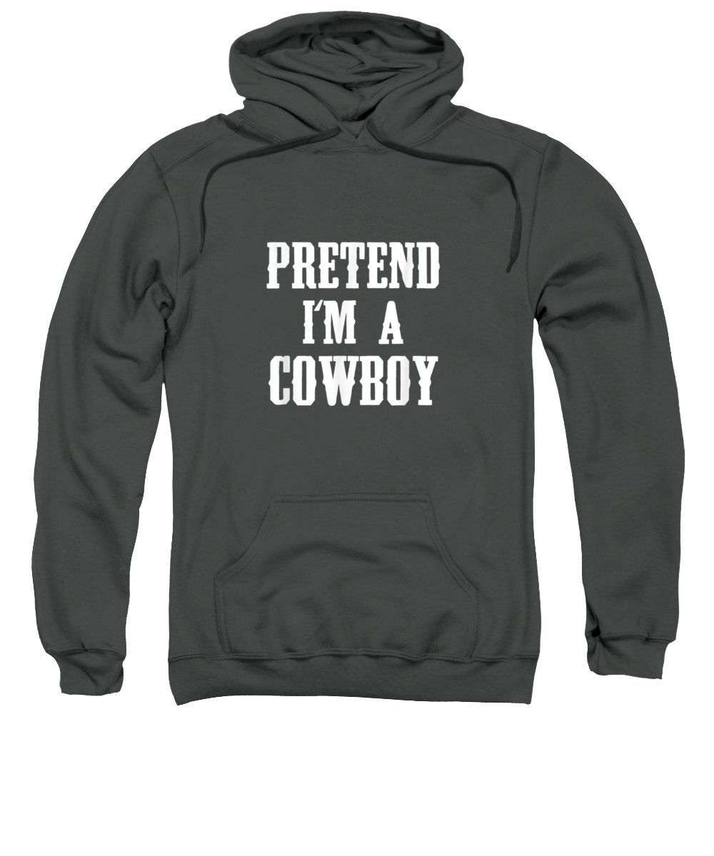 girls' Novelty T-shirts Sweatshirt featuring the digital art Pretend I'm A Cowboy Funny Western Halloween Costume Party T-shirt by Do David