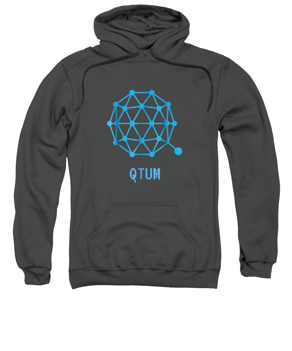 men's Novelty T-shirts Sweatshirt featuring the digital art Qtum Cryptocurrency Crypto Tee Shirt by Unique Tees