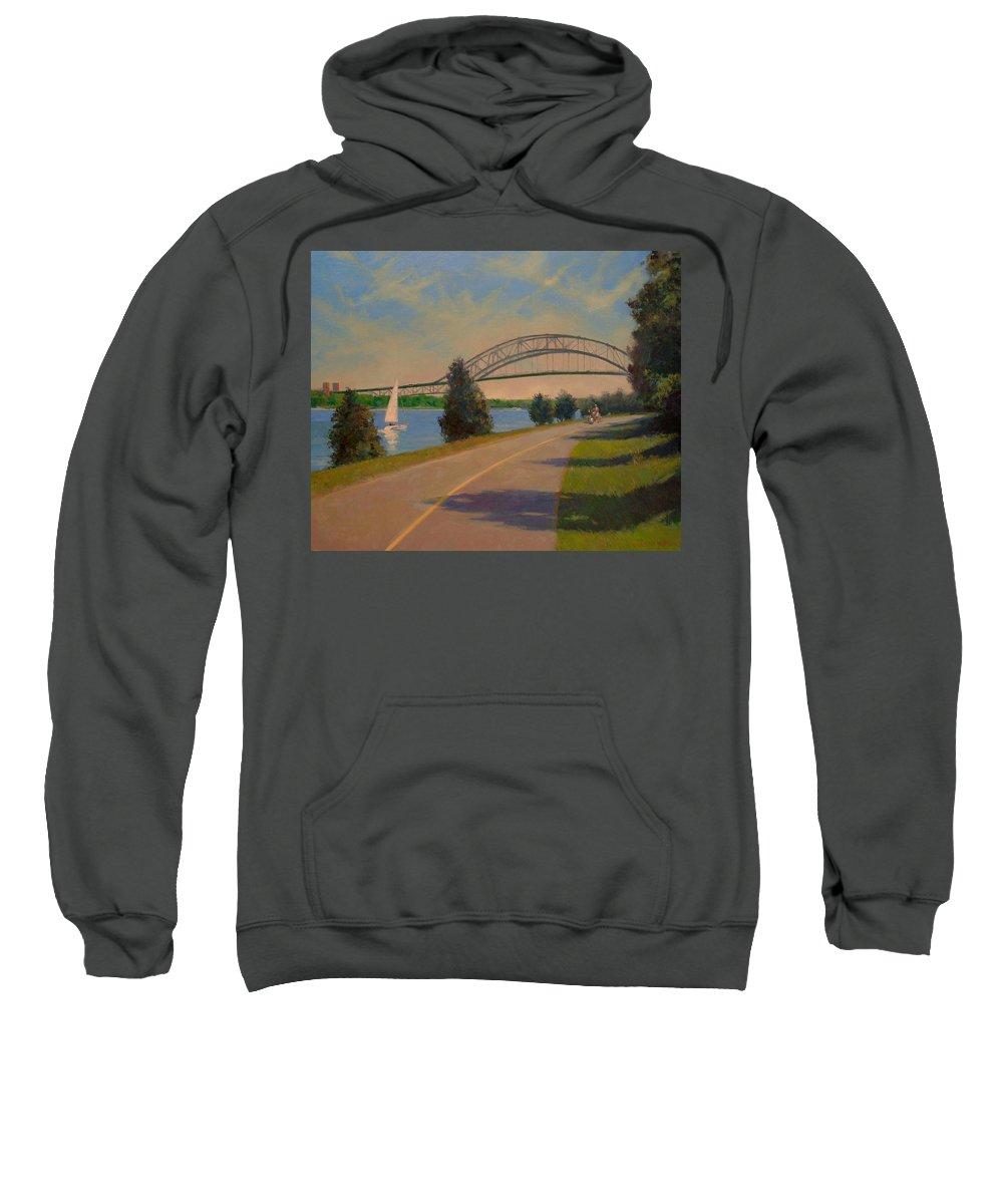 Cape Cod Sweatshirt featuring the painting Sagamore Bridge by Dianne Panarelli Miller