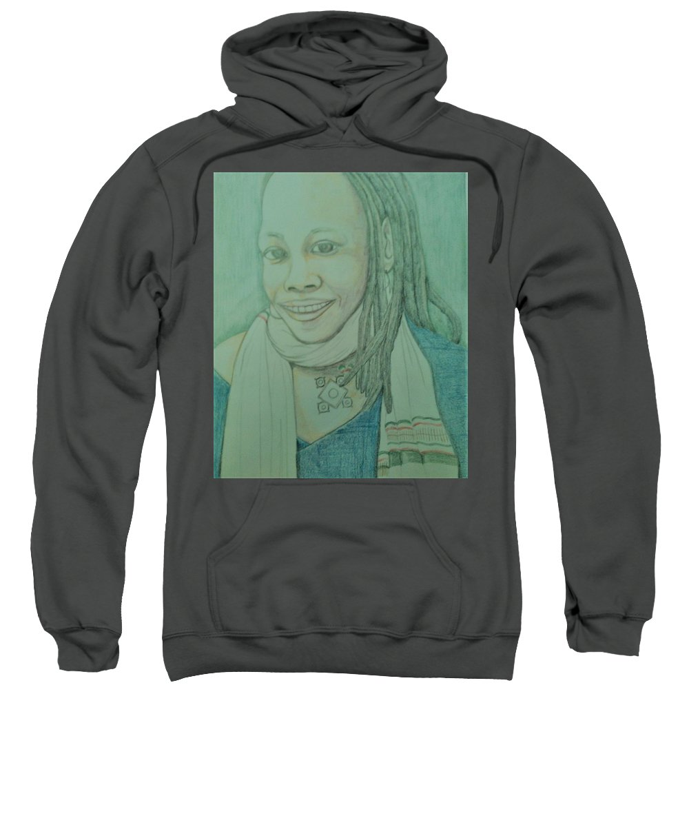 Sweatshirt featuring the drawing SoulJah by Andrew Johnson