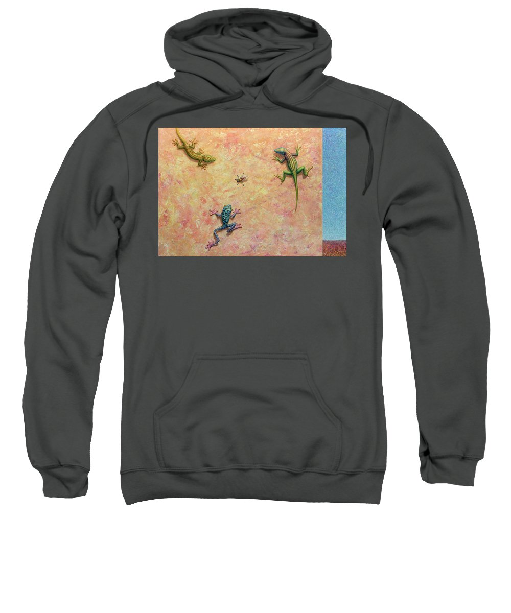 Fly Sweatshirt featuring the painting The Big Fly by James W Johnson