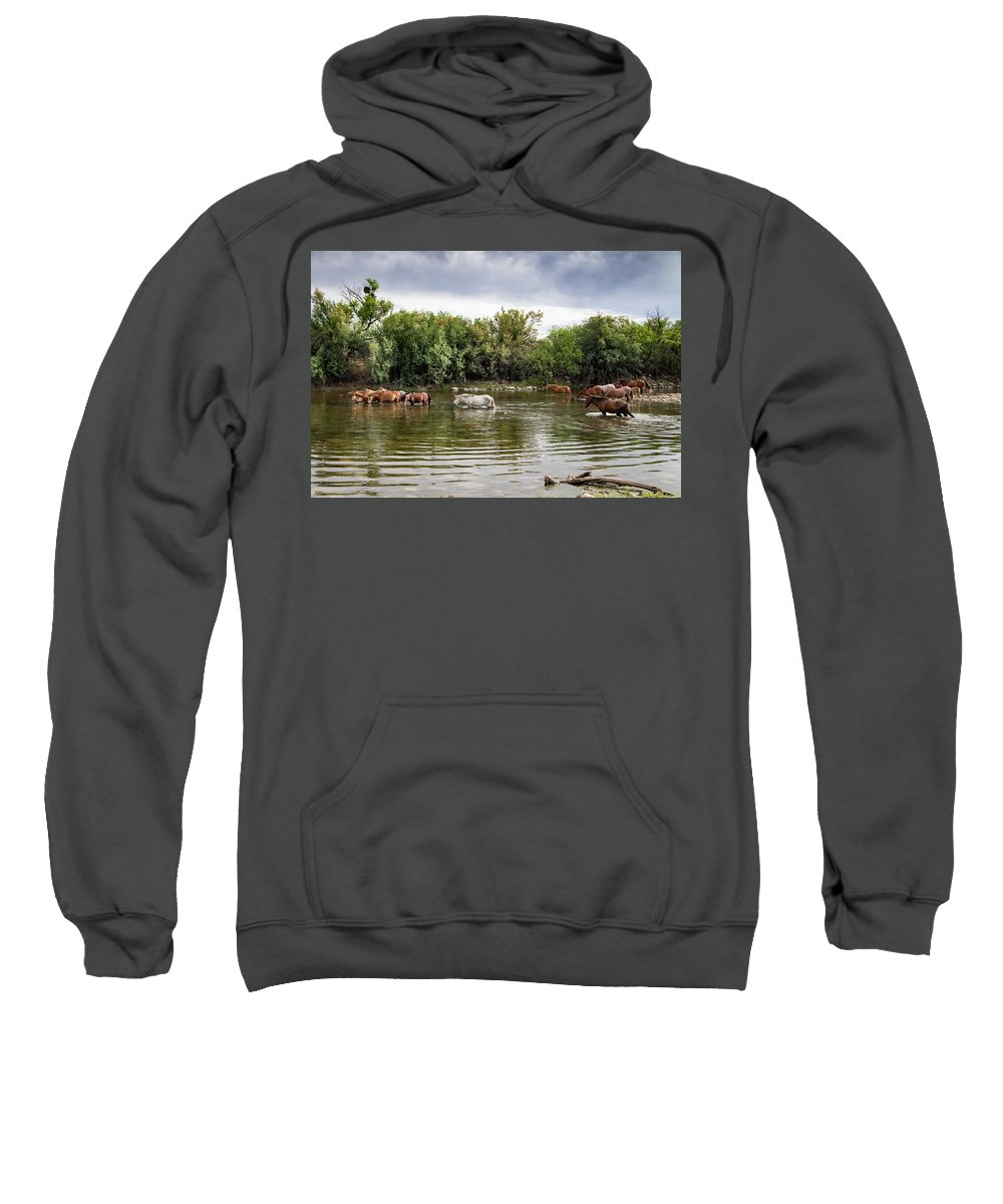 Arizona Sweatshirt featuring the photograph The Perfect Morning View by Cathy Franklin