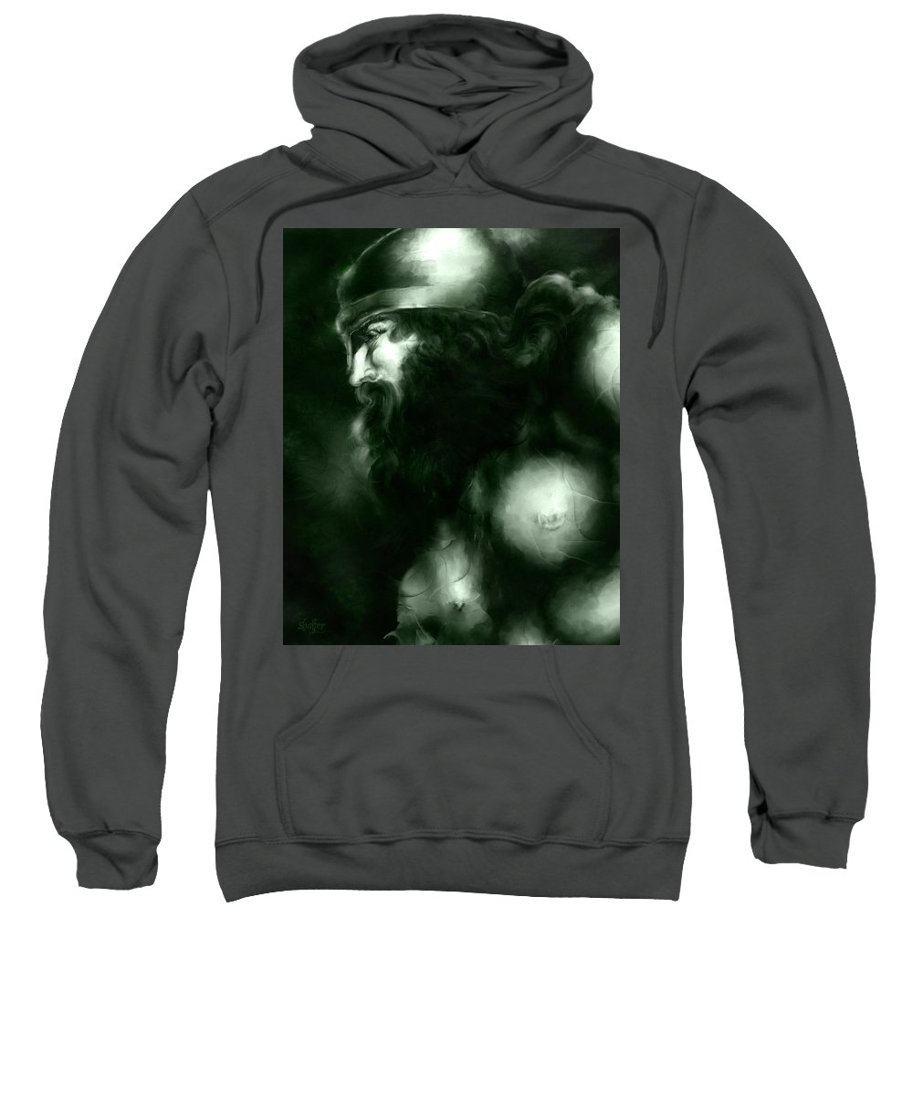 Thor Sweatshirt featuring the mixed media Thor by Curtiss Shaffer