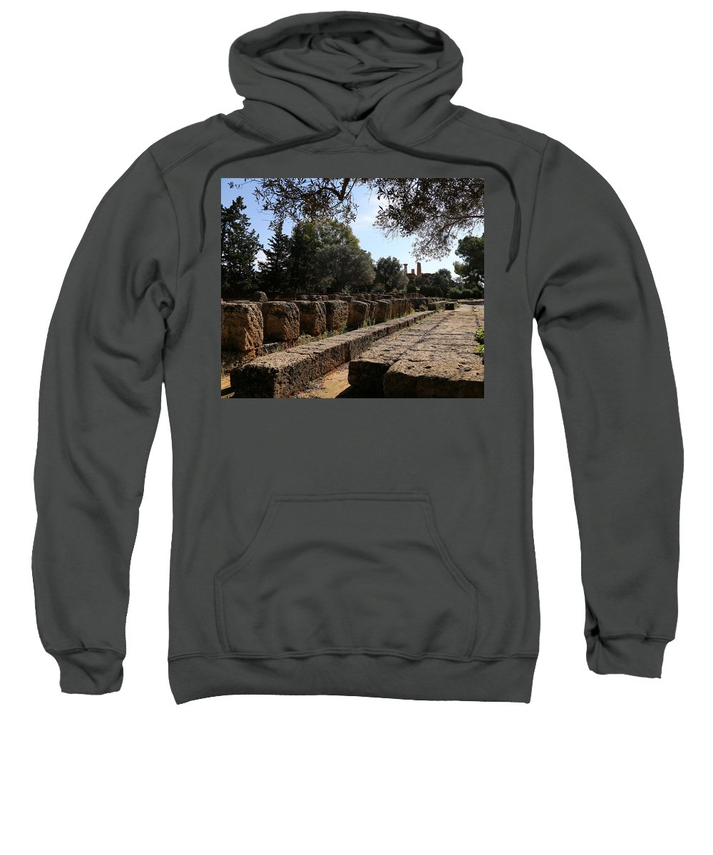Valley Of The Temples Sweatshirt featuring the photograph Valley Of The Temples 2 by Andrew Fare