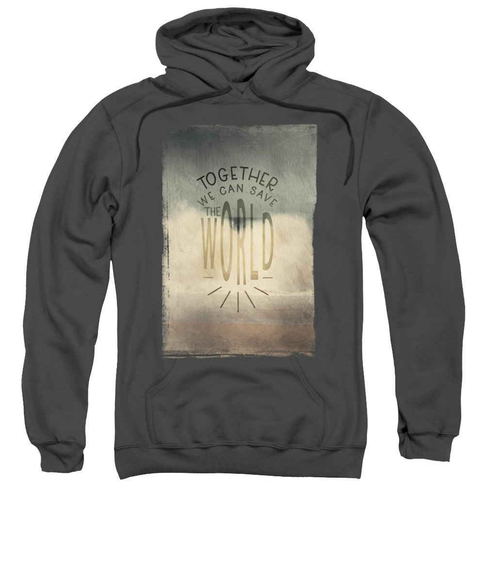 Fine Art Sweatshirt featuring the mixed media Vintage Surf by Amanda Lakey
