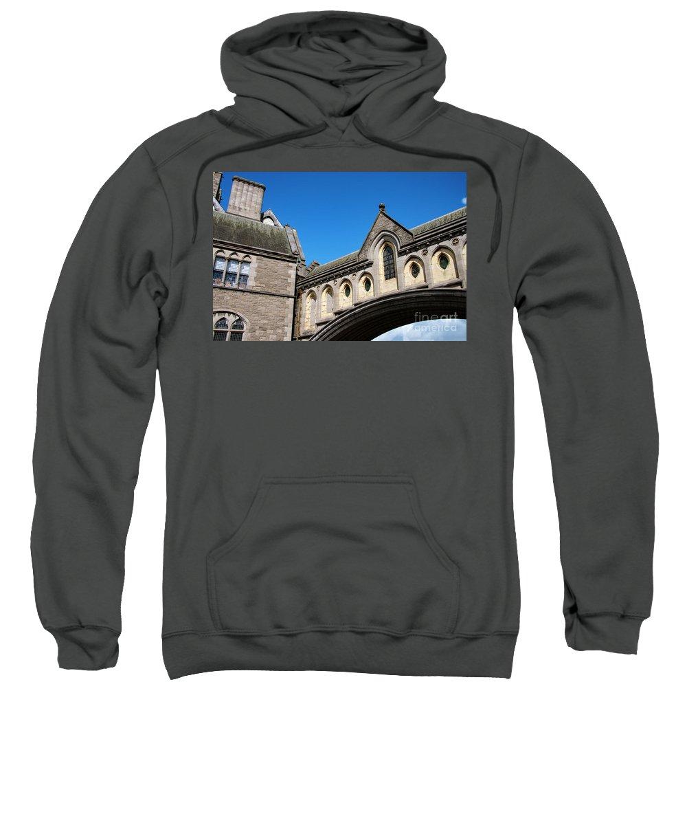 Dublin Sweatshirt featuring the photograph Winetavern Street Arch by Bob Phillips