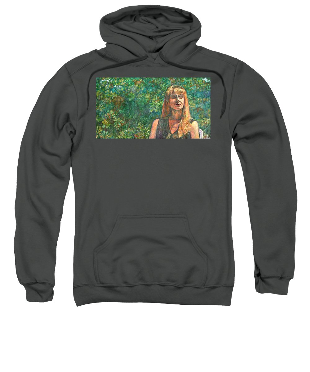 Figure Painting Sweatshirt featuring the painting A Skater by Kendall Kessler