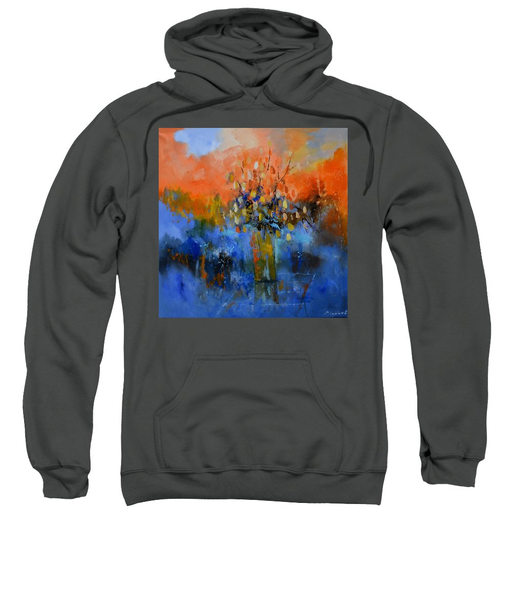 Abstract Sweatshirt featuring the painting Abstract still life 882021 by Pol Ledent