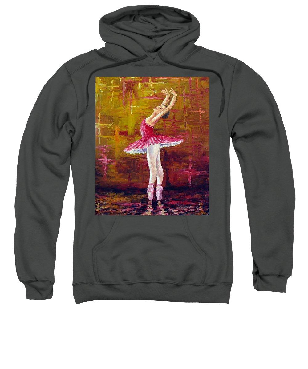 Ballet Sweatshirt featuring the painting Ballerina by David G Paul