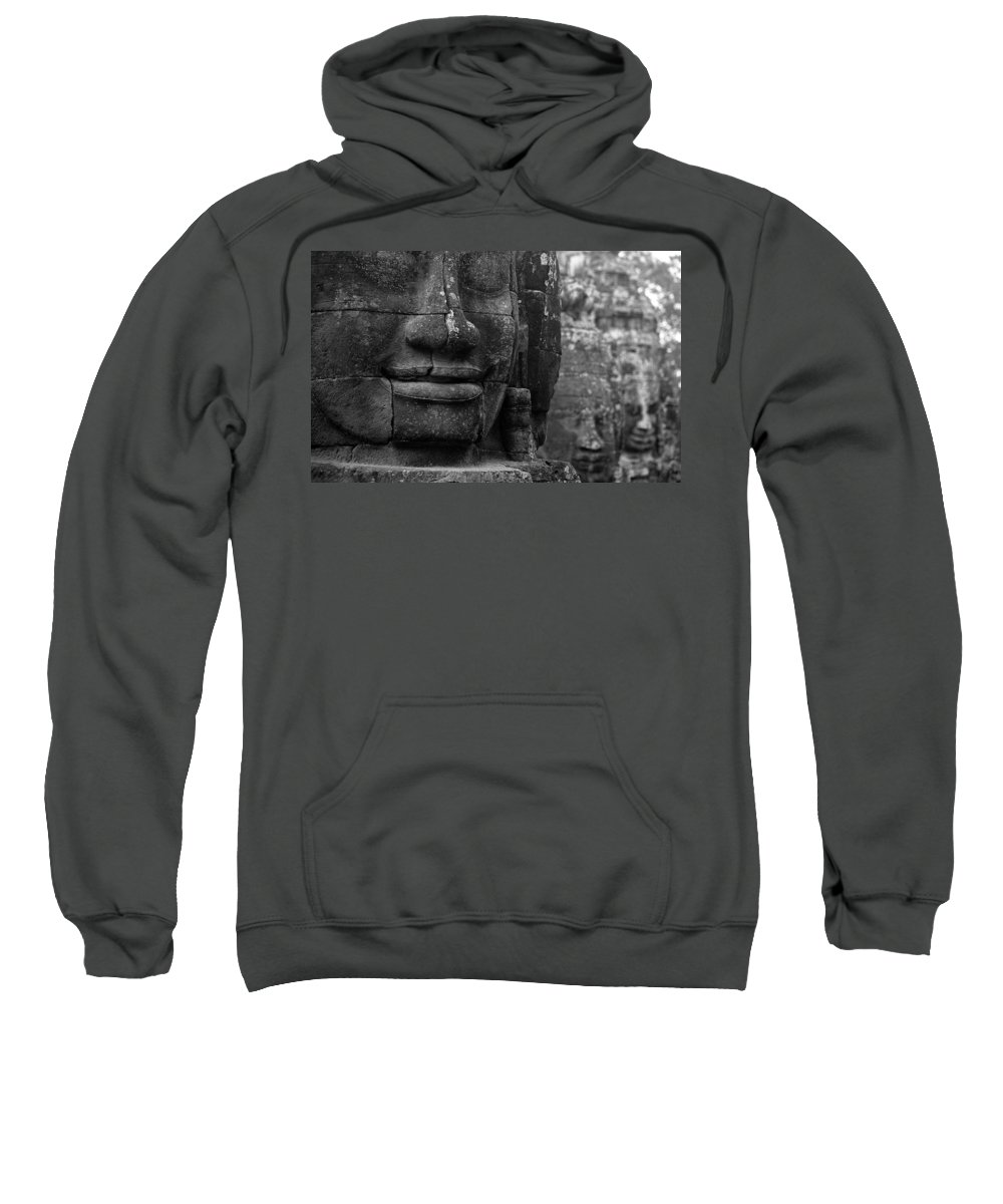 Bayon Sweatshirt featuring the photograph Bayon Temple - Angkor by Patrick Klauss