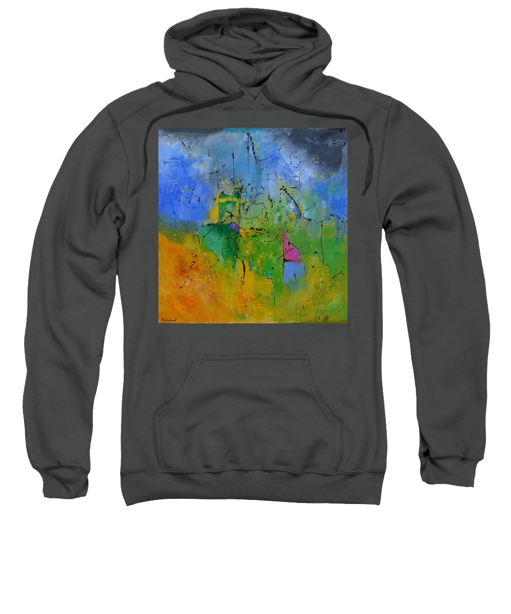 Abstract Sweatshirt featuring the painting Brain storming by Pol Ledent