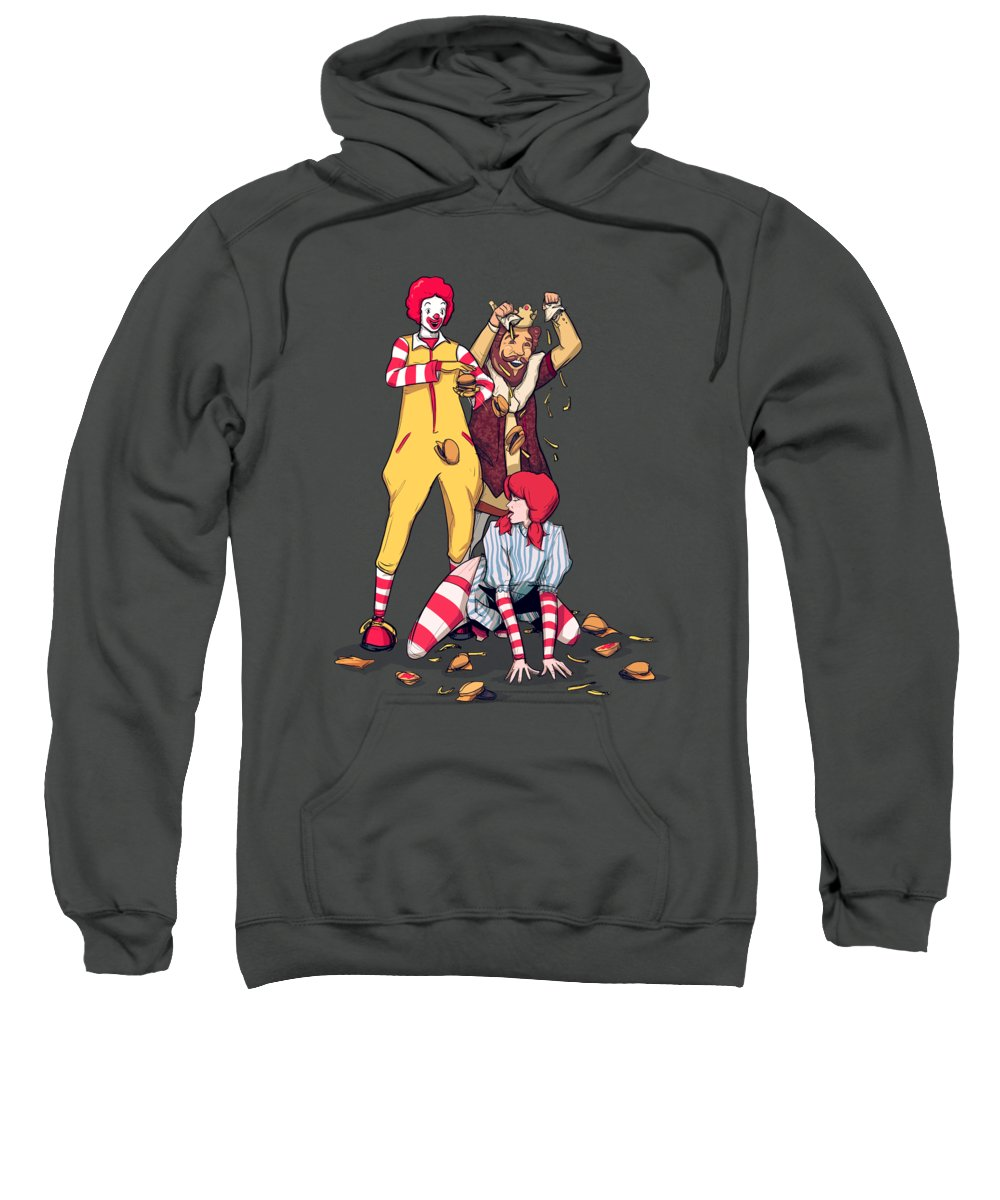 Mcdonalds Sweatshirt featuring the drawing Burgers and Fries by Ludwig Van Bacon