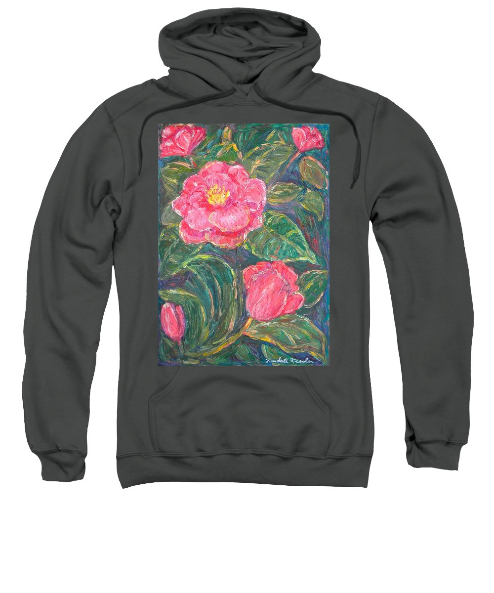 Impressionism Sweatshirt featuring the painting Camelias by Kendall Kessler