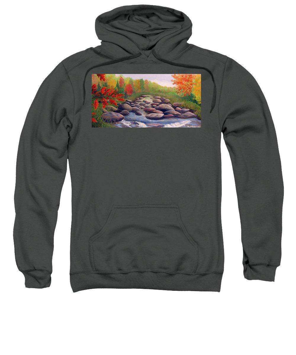 Rick Huotari Sweatshirt featuring the painting Cherokee Park by Rick Huotari