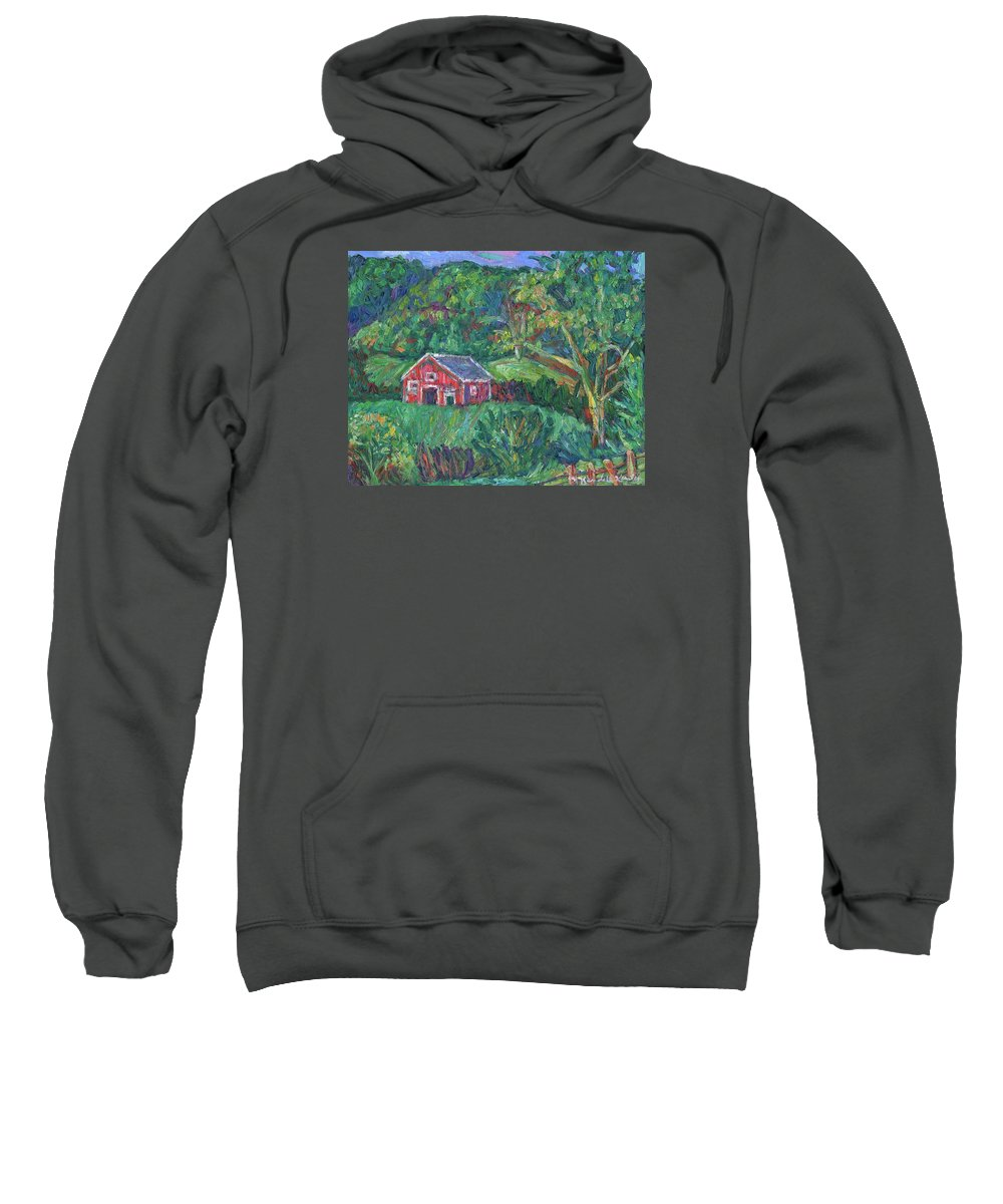 Rural Sweatshirt featuring the painting Clover Hollow in Giles County by Kendall Kessler