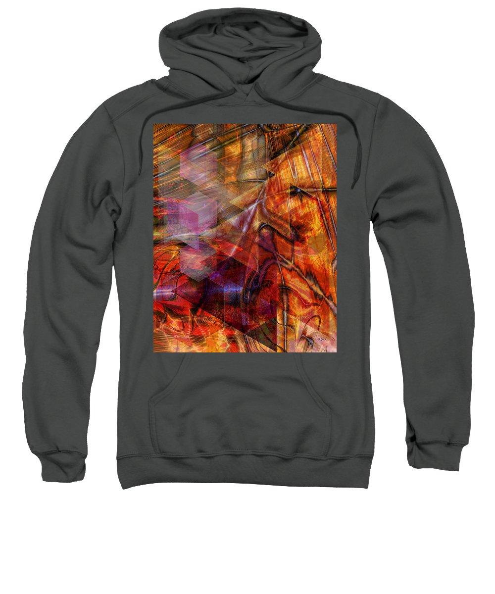 Deguello Sunrise Sweatshirt featuring the digital art Deguello Sunrise by John Robert Beck