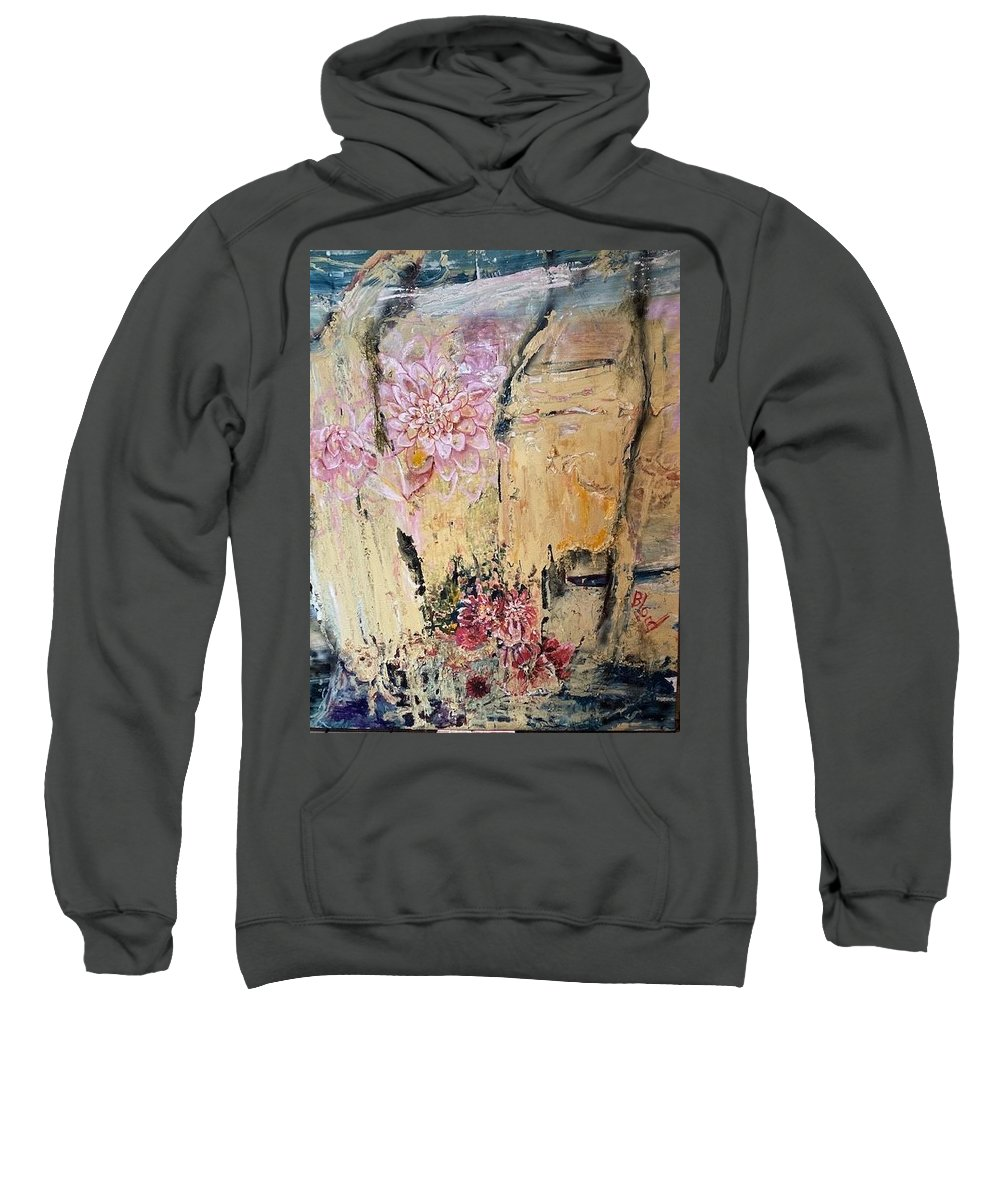 Landscape Sweatshirt featuring the painting Delilah by Peggy Blood