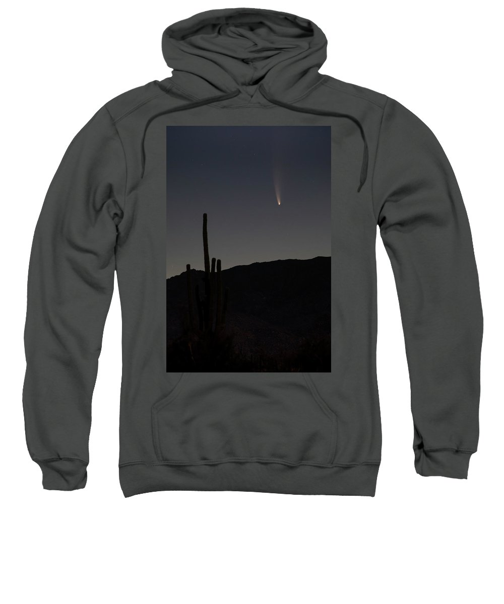 Usa Sweatshirt featuring the photograph Desert Comet View by Cathy Franklin