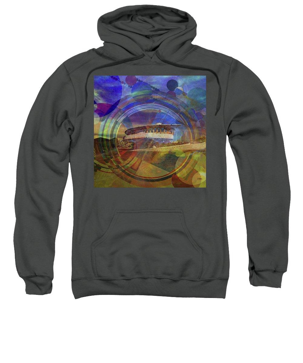 Affordable Art Sweatshirt featuring the digital art Desert Flower - Square Version by John Robert Beck