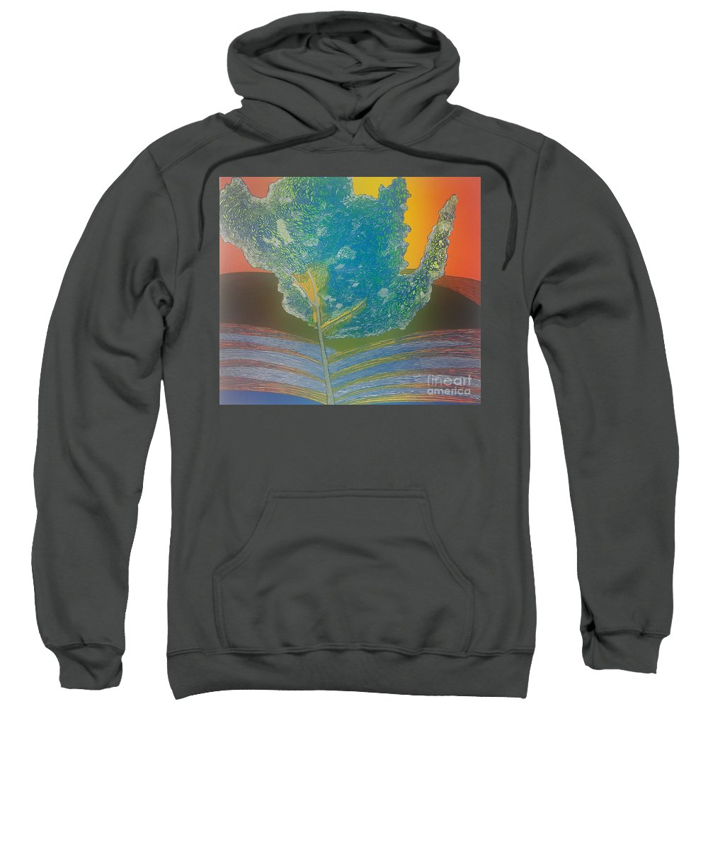 Landscape Sweatshirt featuring the mixed media Det var en sommer by Jarle Rosseland