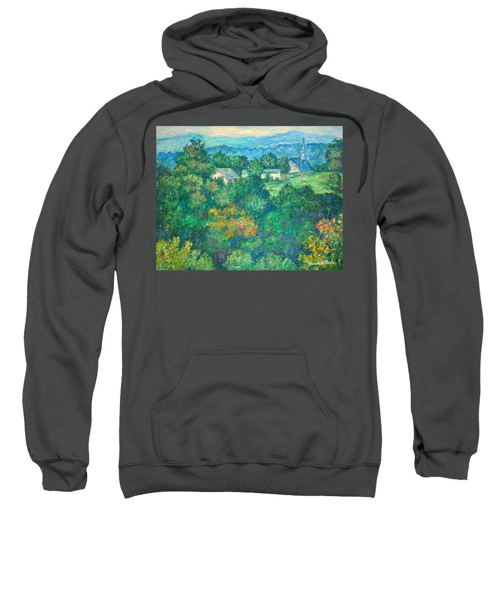 Kendall Kessler Sweatshirt featuring the painting Fairlawn Ridge by Kendall Kessler