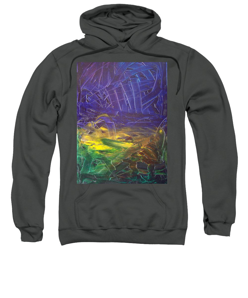 Painting Sweatshirt featuring the painting Forest. Part2 by Sergey Bezhinets