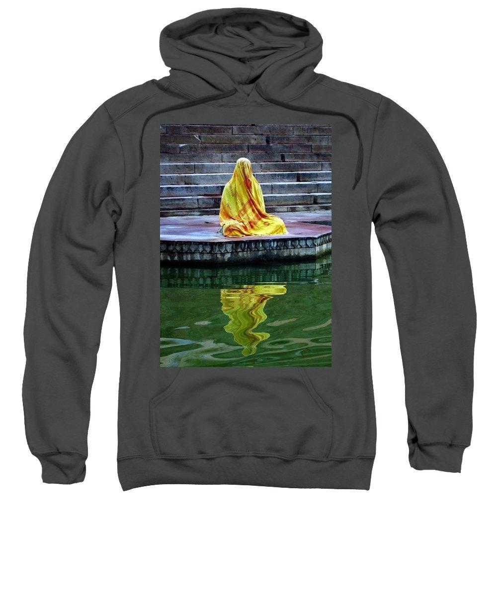 Meditate Sweatshirt featuring the photograph Ganga Dream by Skip Hunt