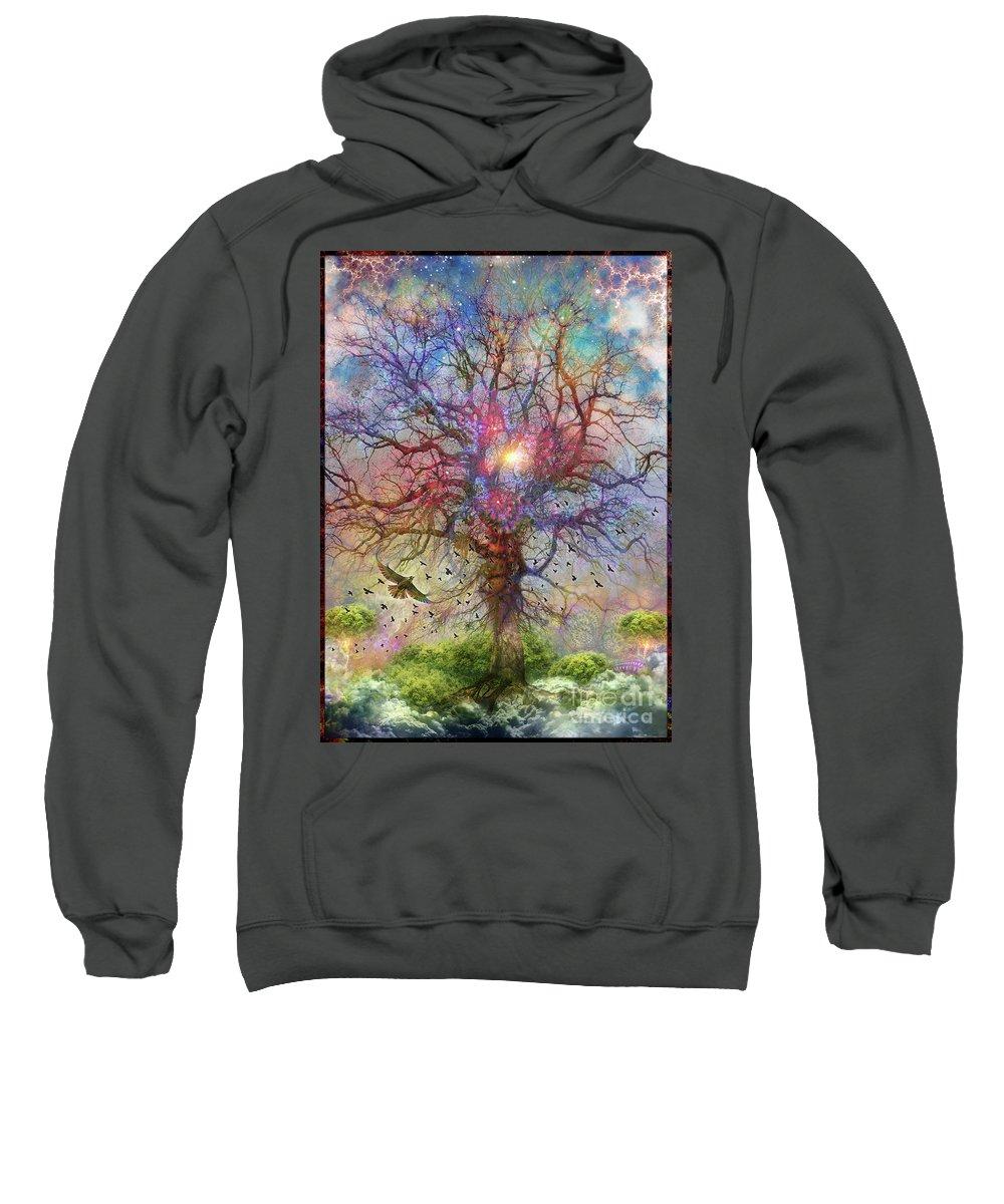 Birds Sweatshirt featuring the digital art Great Escape by Leonard Rubins