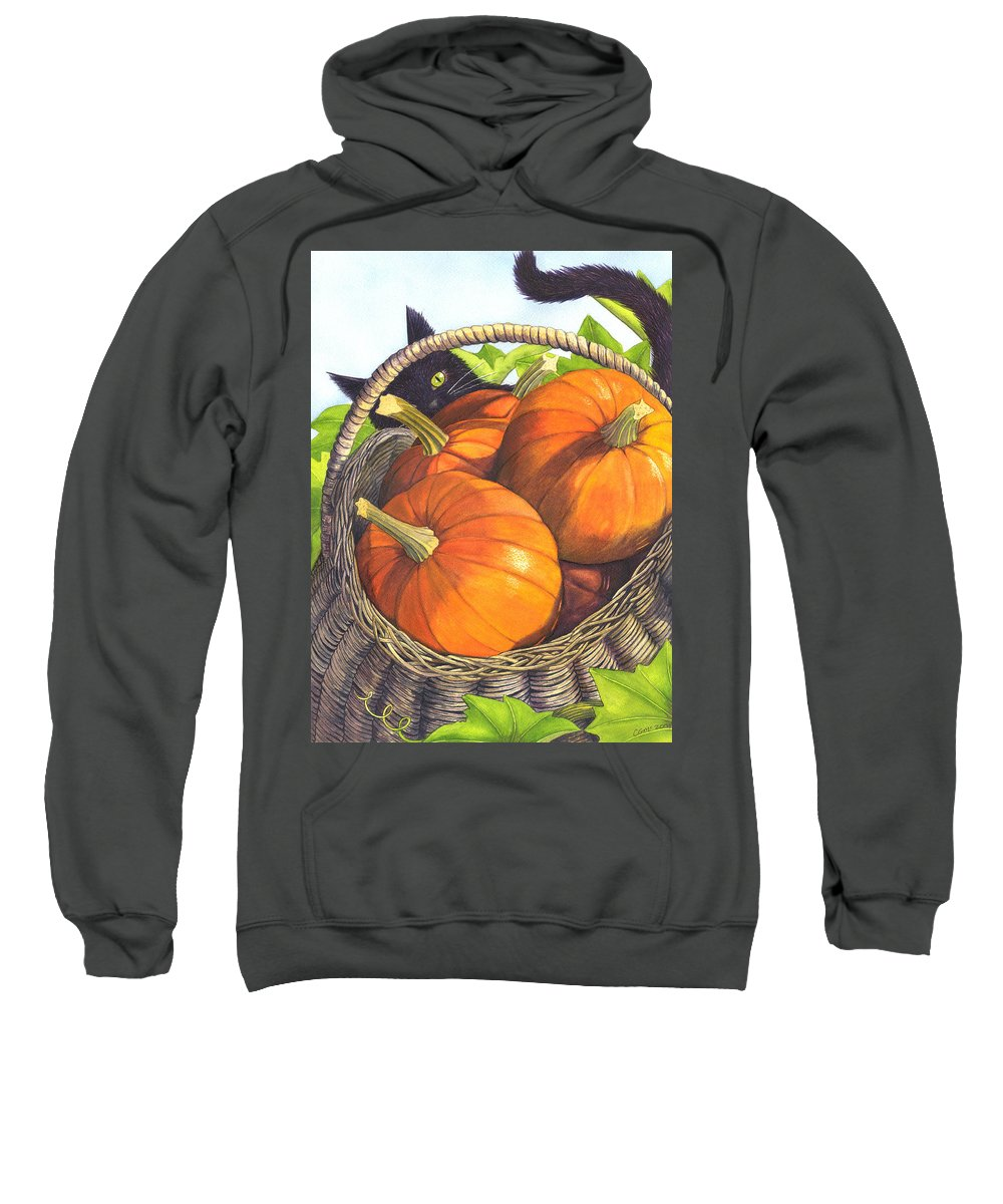 Pumpkin Sweatshirt featuring the painting Harvest by Catherine G McElroy