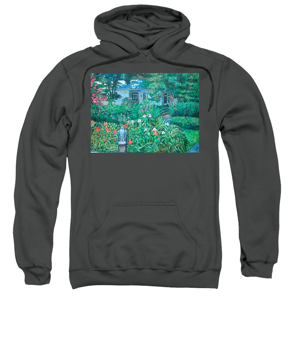 Landscape Sweatshirt featuring the painting House on Chesterbrook Road in McLean by Kendall Kessler