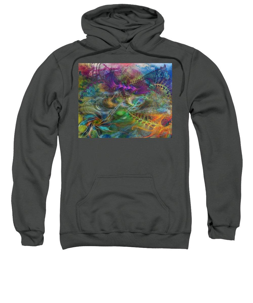 In The Beginning Sweatshirt featuring the digital art In The Beginning by Studio B Prints