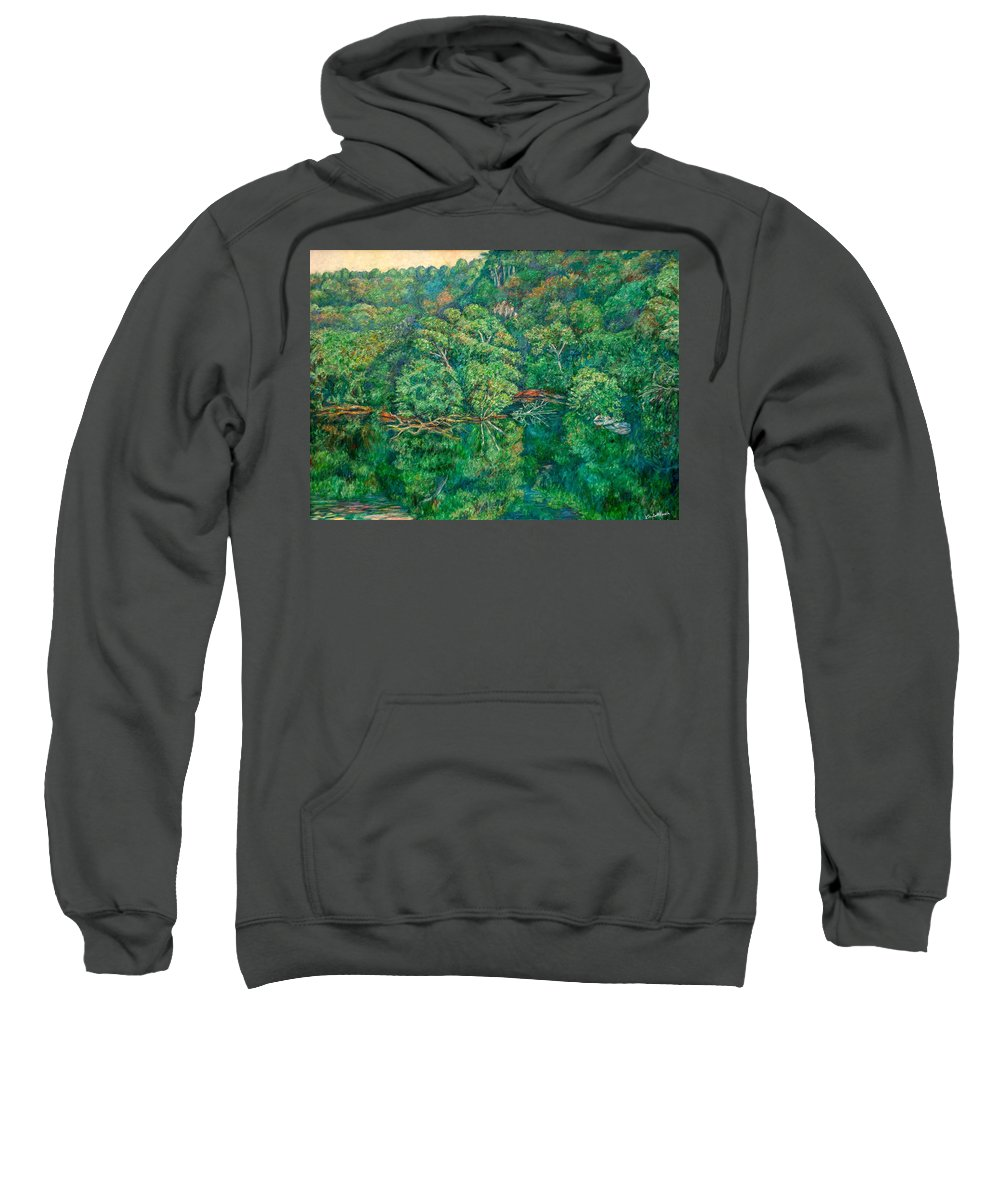 Landscape Sweatshirt featuring the painting James River Moment by Kendall Kessler