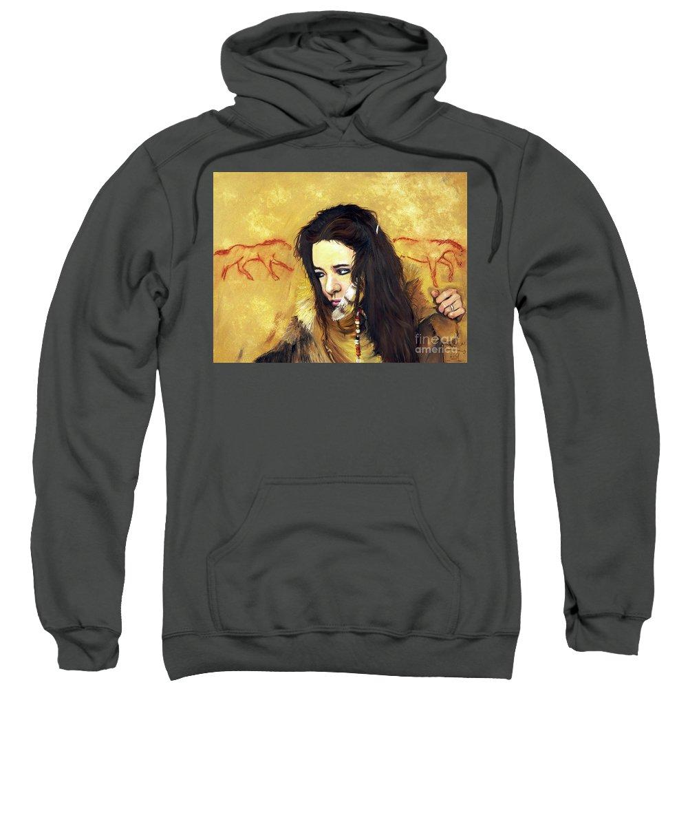 Southwest Art Sweatshirt featuring the painting Journey by J W Baker