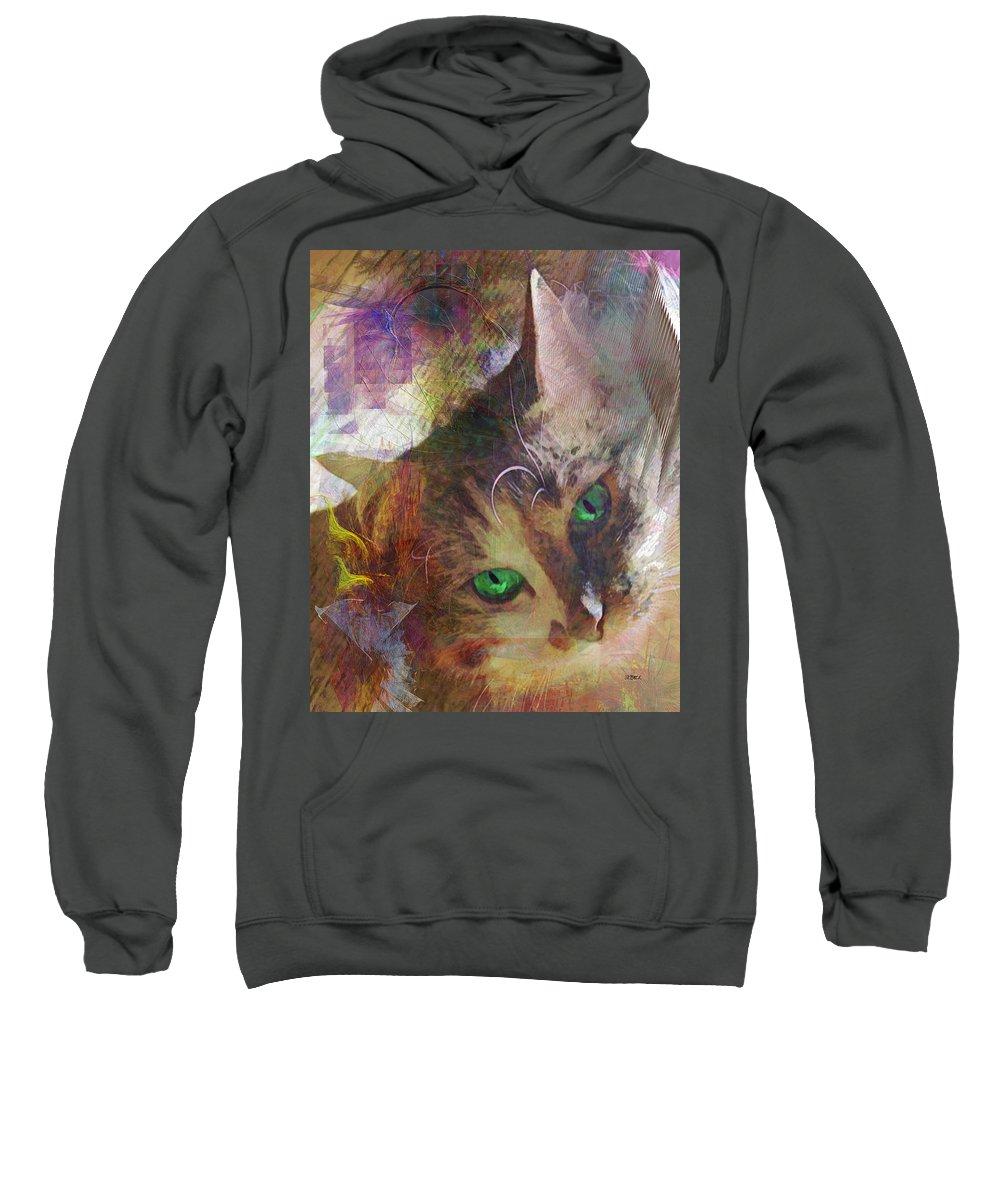 Lisa Beckons Sweatshirt featuring the digital art Lisa Beckons by Studio B Prints