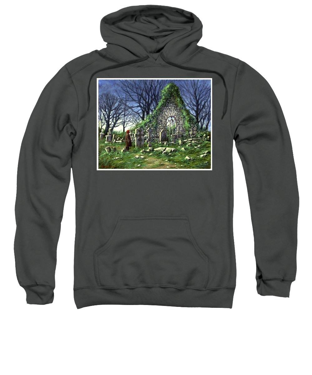 Landscape Sweatshirt featuring the painting Londonderry Stones by Jim Gola