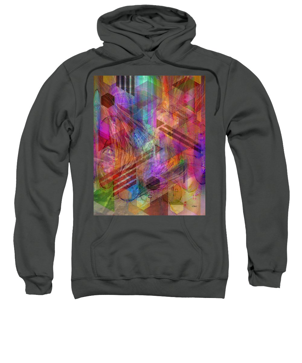 Magnetic Abstraction Sweatshirt featuring the digital art Magnetic Abstraction by John Robert Beck