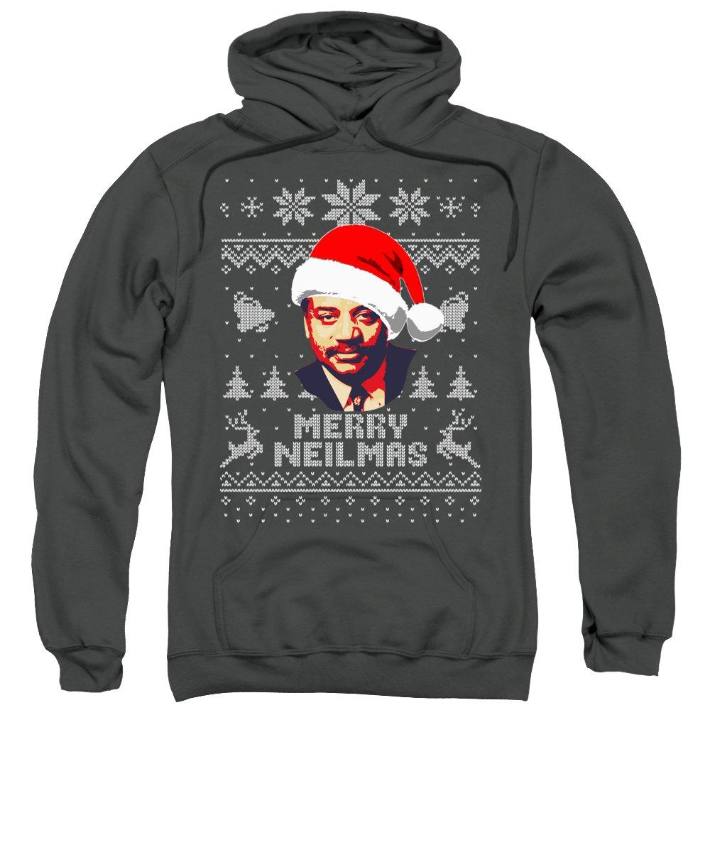 Santa Sweatshirt featuring the digital art Neil Degrasse Tyson Merry Neilmas by Filip Schpindel