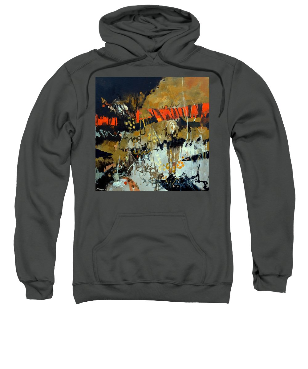 Abstract Sweatshirt featuring the painting Night aubade by Pol Ledent