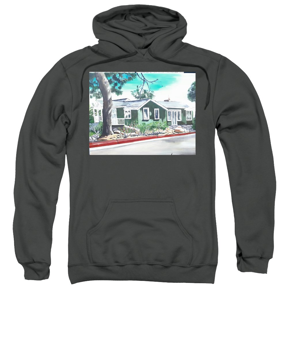 Landscape Sweatshirt featuring the painting Ocean Front House by Andrew Johnson