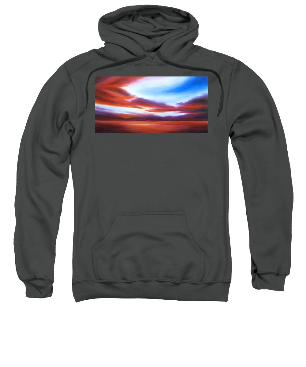 Skyscape Sweatshirt featuring the painting October Sky IV by James Christopher Hill