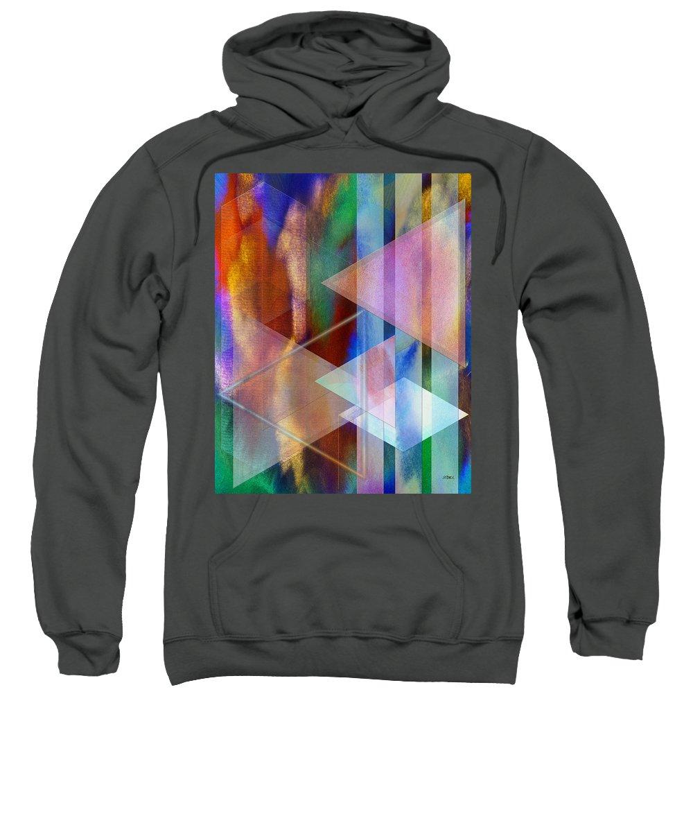 Pastoral Midnight Sweatshirt featuring the digital art Pastoral Midnight by John Robert Beck