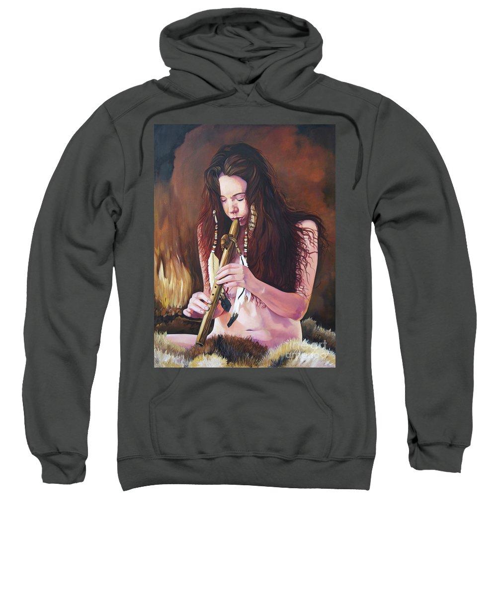 Southwest Art Sweatshirt featuring the painting Release by J W Baker