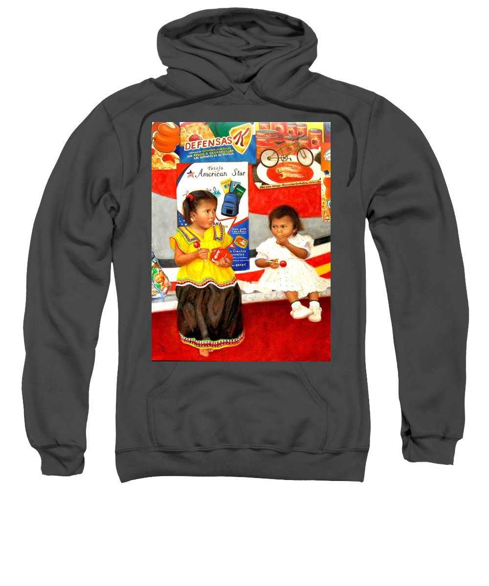 Realism Sweatshirt featuring the painting Same by Donelli DiMaria