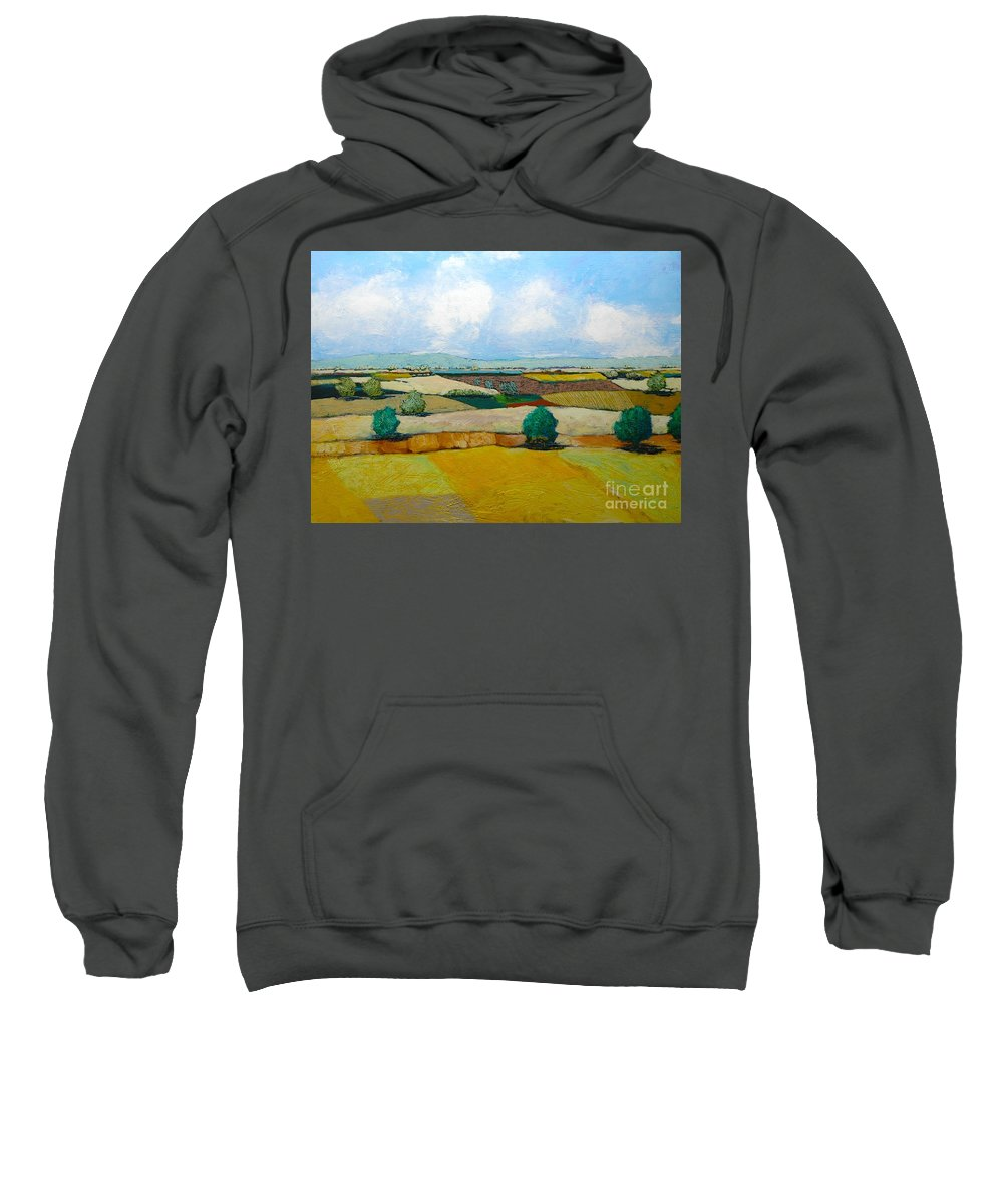 Landscape Sweatshirt featuring the painting Sears Point by Allan P Friedlander
