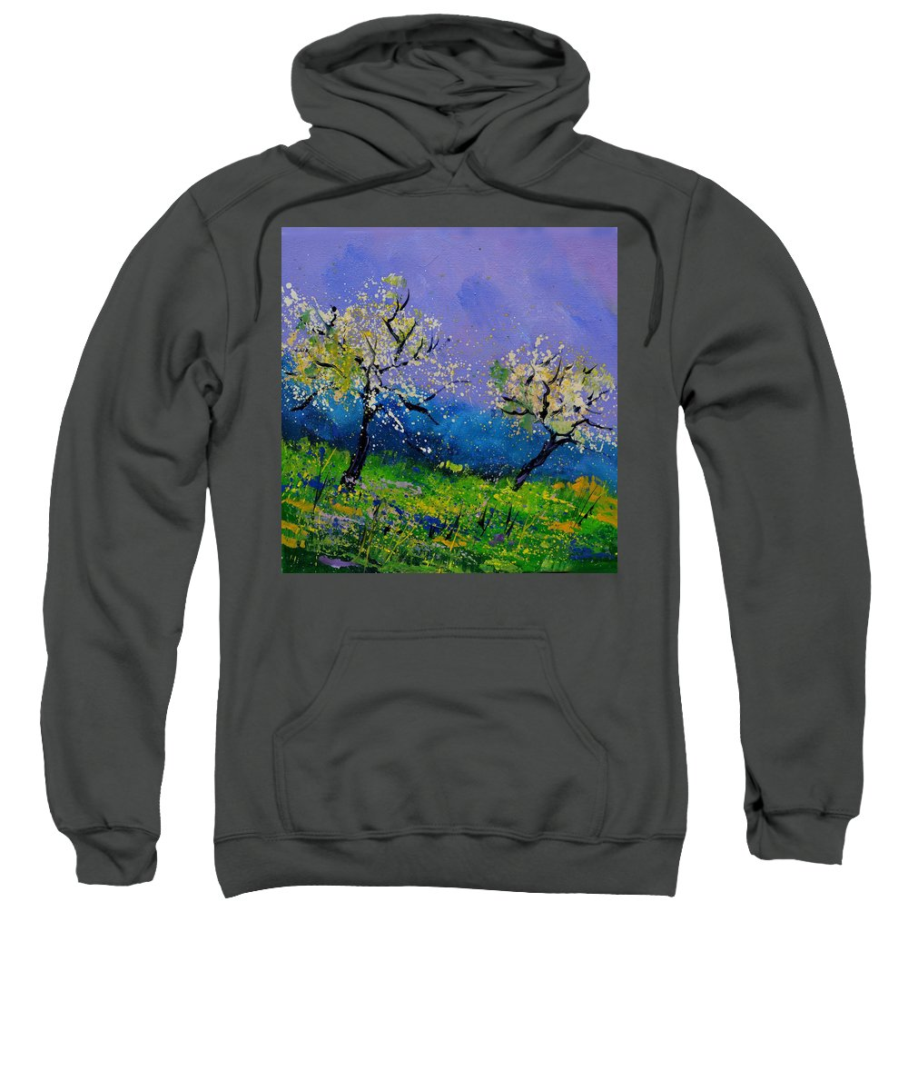 Landscape Sweatshirt featuring the painting Spring 442021 by Pol Ledent