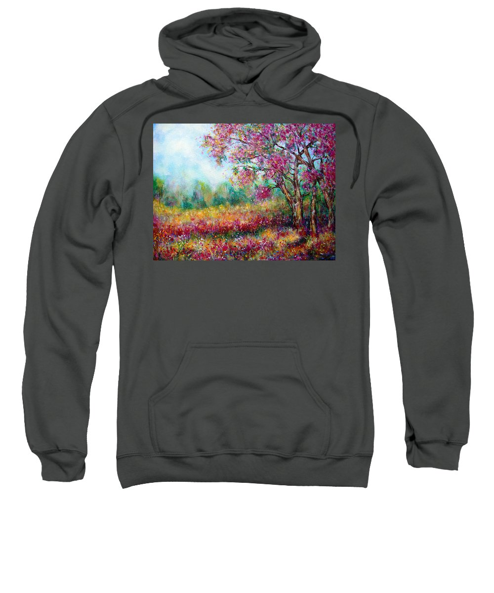 Landscape Sweatshirt featuring the painting Spring by Natalie Holland