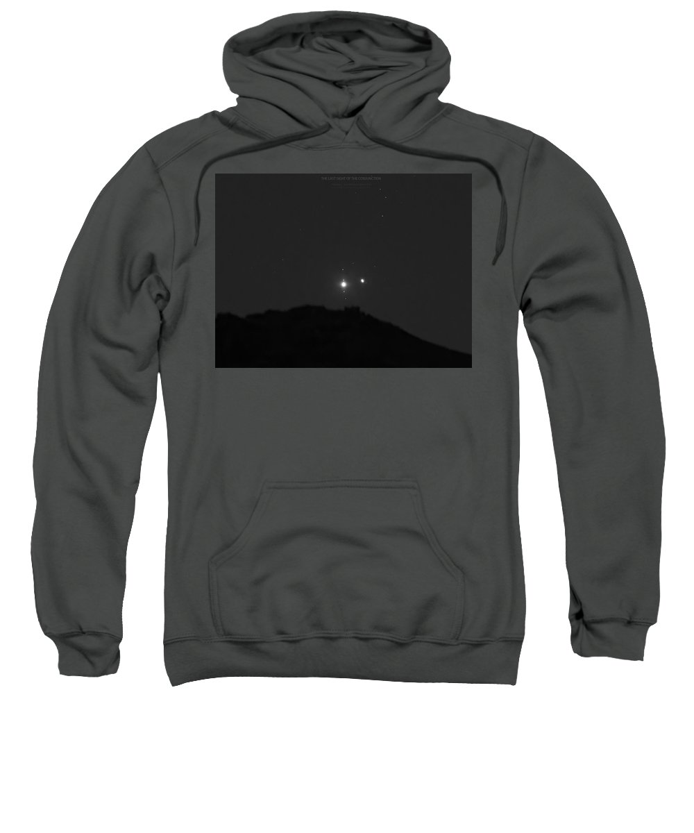 Sweatshirt featuring the photograph The Last sight of the Conjunction by Prabhu Astrophotography