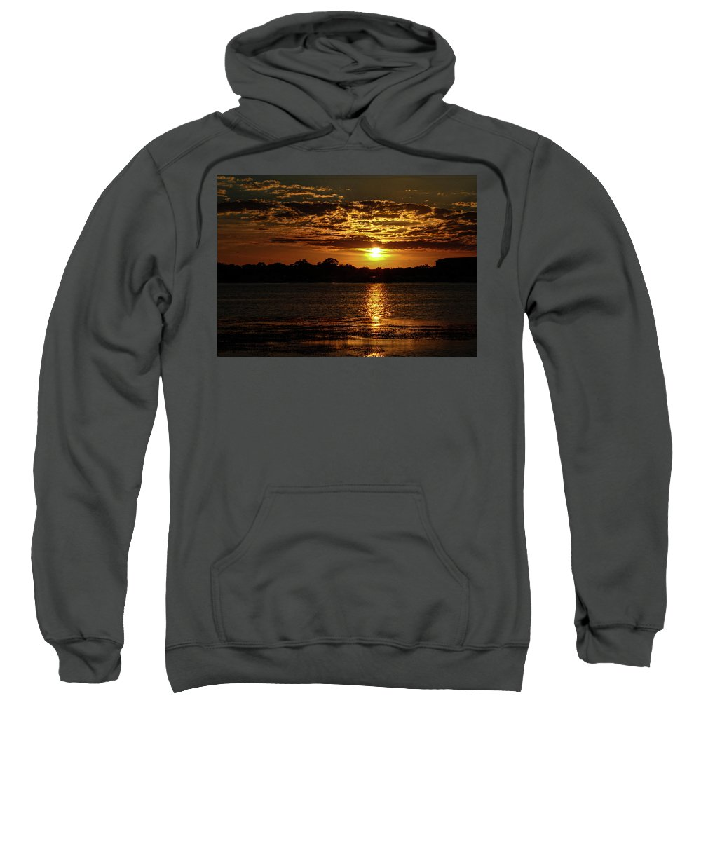 Sunset Sweatshirt featuring the photograph The Sunset over the Lake by Daniel Cornell