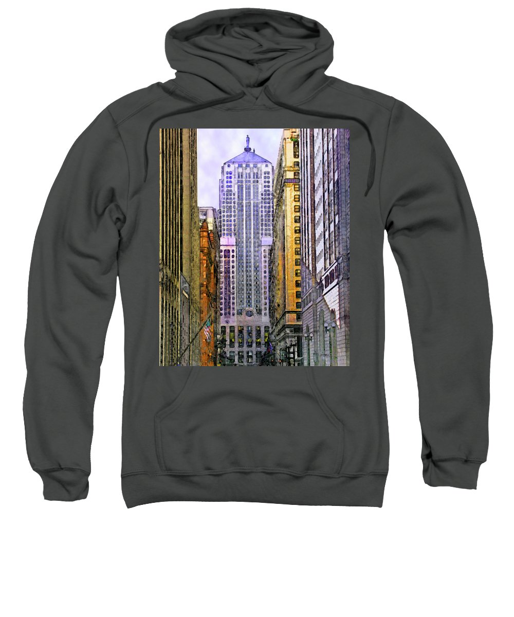 Trading Places Sweatshirt featuring the digital art Trading Places by John Robert Beck