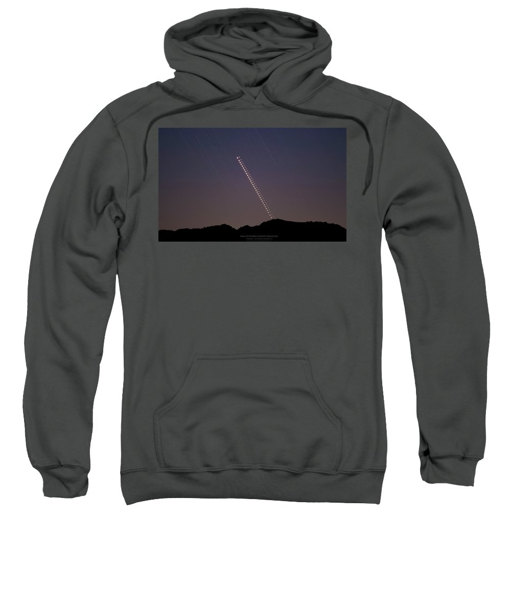 Sweatshirt featuring the photograph Trails of the Great Planetary Conjunction by Prabhu Astrophotography